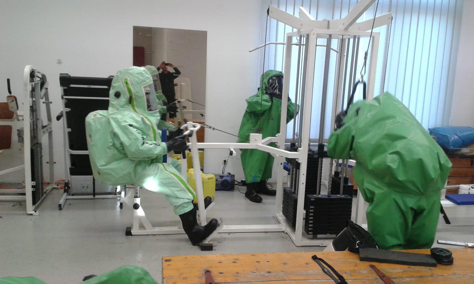 Zentrale Belastungsübung für CSA-Träger