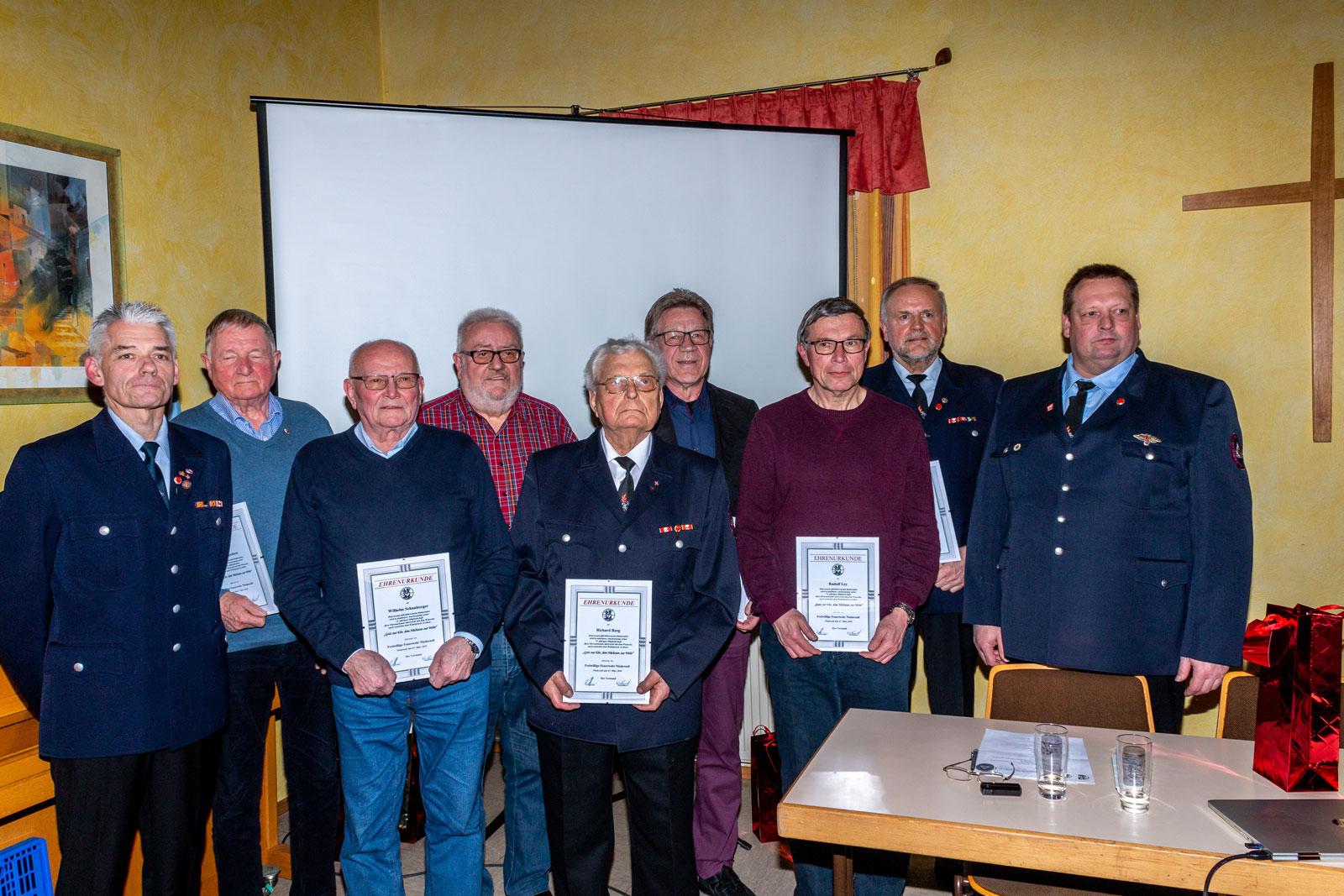 Bericht zur Jahreshauptversammlung der Feuerwehr Niederzell